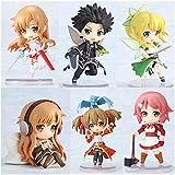 WIJJZY Sword Art Online Figura Chibi Anime Figura Figura de acción 6 Unids/Lote Modelo Regalo de cum...