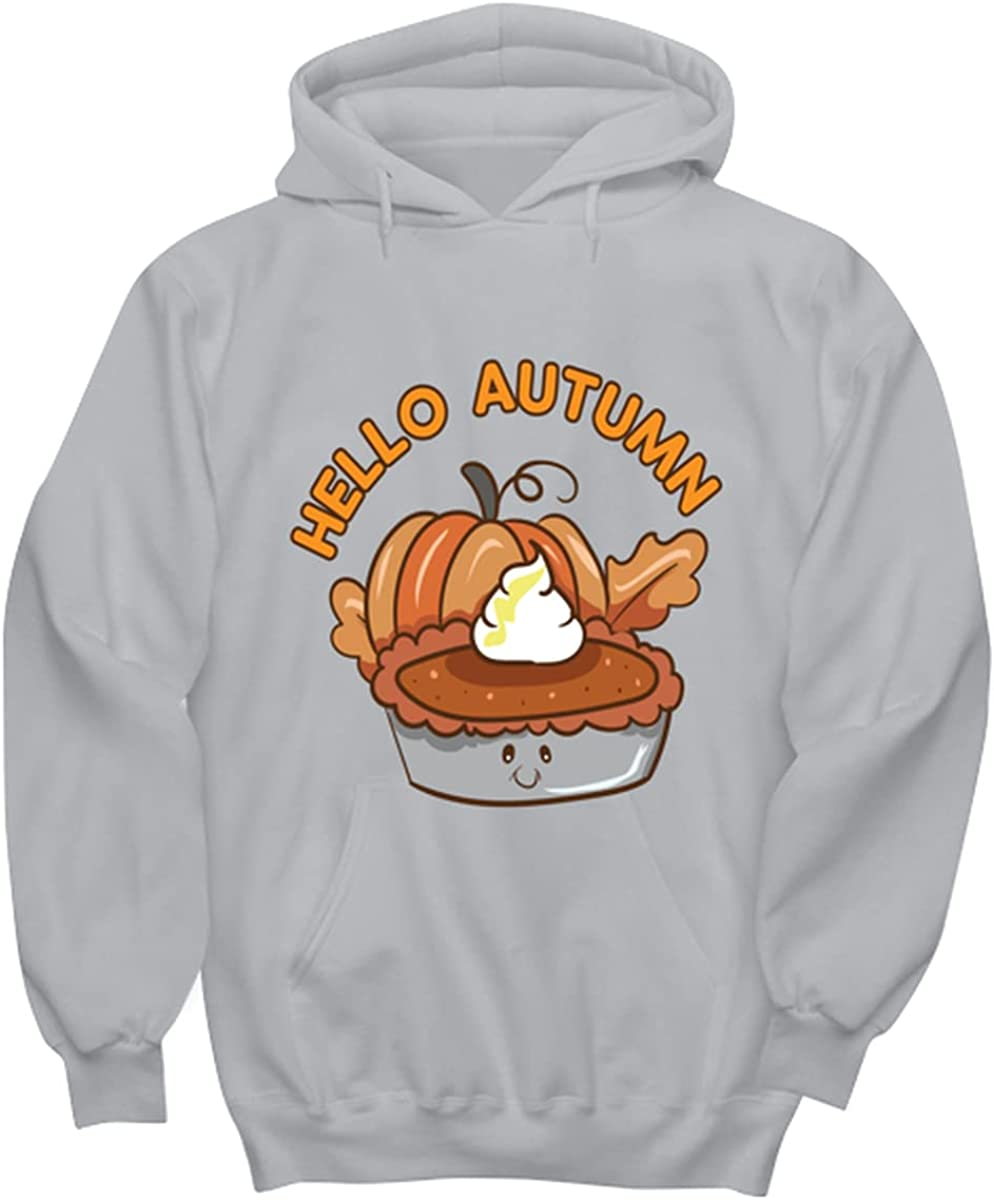 Hello Autumn Superior pumpking Pie Free Shipping Cheap Bargain Gift ash Colored Hoodie