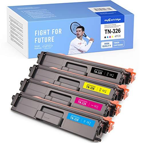 MyCartridge Toner Kompatibel Brother TN-326 für MFC-L8650CDW HL-L8250CDN DCP-L8400CDN DCP-L8450CDW HL-L8350CDW MFC-L8850CDW (TN-326BK TN-326C TN-326M TN-326Y)