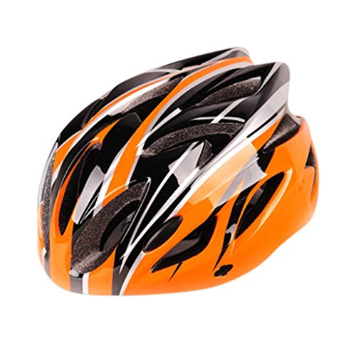 Xiaowin Adults Bike Helmet, Lightweight Microshell Design with Adjustable Chin Strap Sizes for Youth and Children (Orange)
