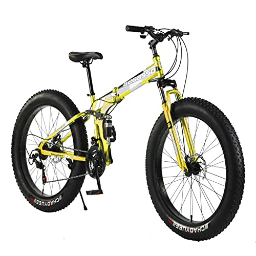 26 pulgadas rueda 21 velocidad engranaje motos de montaña, bicicleta adulto gordo neumático nieve montaña sendero bicicleta de acero alto-carbono marco doble suspensión doble dual disco freno