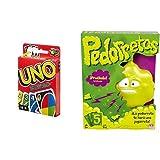 Mattel Games UNO Classic, Juego de Cartas + Pedorretas, Juegos de Mesa para niños