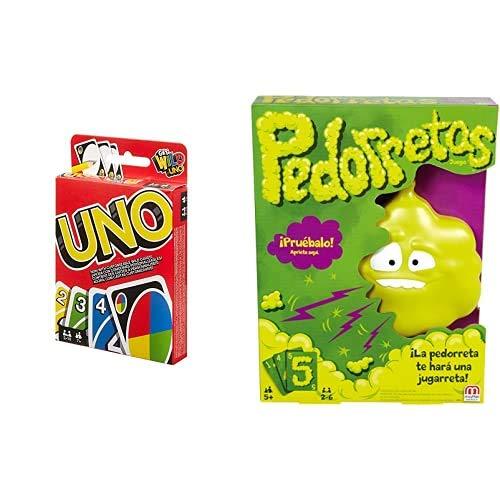 Mattel Games UNO Classic, Juego de Cartas + Pedorretas, Juegos de Mesa...