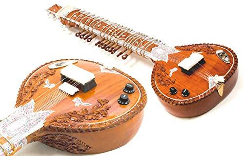 Indianerischer Akustik aus Zedernholz Naturfarben. Ravi Shankar Style