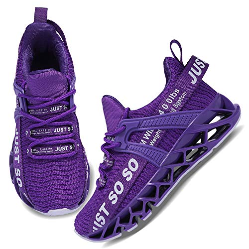 UMmaid Kinder Turnschuhe Jungen Sneaker Mädchen Sportschuhe Kinderschuhe Laufschuhe für Unisex-Kinder,G Lila,31