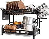 Kitchen Dish Rack, Boosiny 2 Tier Stainless...