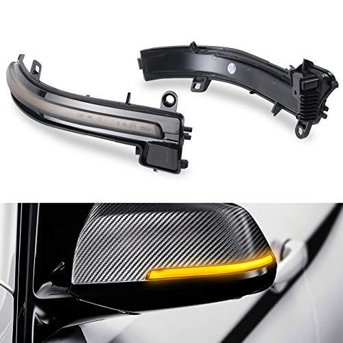 OZ-LAMPE LED Indicador dinámico de giro Indicador del retrovisor lateral Humo compatible con BM-W F20 F21 F22 F30 F31 F34 F35 F32 F33 F36 X1 E84