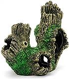 Camarón Refugio casa rocalla Paisaje árbol raíces Cueva árbol Acuario Ornamento con diseño de Agujero de árbol Hueco para peceras y acuarios