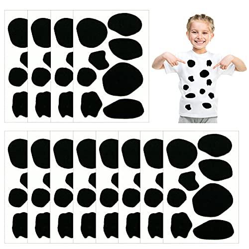 12 Sheets Adhesive Felt Circles Felt Pads Cow Style Felt Pad for Halloween DIY Projects Costume Party Decorations Supplies