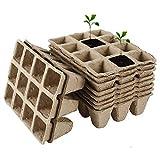 Bandeja de inicio de semillas de turba, kit de bandeja de germinación de macetas para plantar materiales ambientalmente degradables con 10 etiquetas de plantas PCS