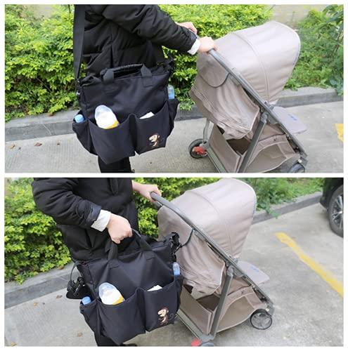 DEEYOTA ベビーカー用バッグ ベビーカー トラベルバッグ 小物入れ ベビーカー収納バッグ 多機能小物入れ 取り付け簡単 大容量 撥水