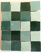 Sai Mosaic Art 1x1'' Square Ceramic Mosaics Turquoise 1/2 Kg