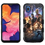 for Samsung Galaxy A10e Case, Galaxy A10e Hard+Rubber Dual Layer Hybrid Heavy-Duty Rugged Impact Cover Case - Avengers #N