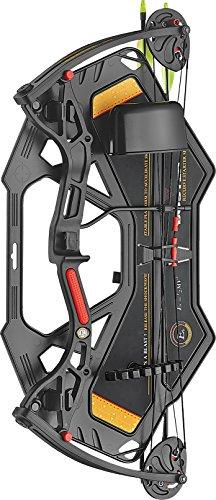 E-K Archery - Kit Arc à poulies Buster Black - Idéal Loisir Enfant 8/14 Ans - DROITIER - Puissance 15/29 lbs (Noir)