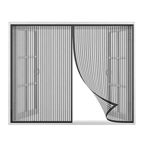 Mosquitera Magnética 75x215cm, Mosquitera Magnética Automático para Puertas Cortina de Sala de Estar la Puerta del Balcón Puerta Corredera Patio, Se puede instalar sin taladrar, Negro