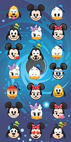 Disney - Toalla de playa (100% algodón, 70 x 140 cm), algodón, Disney Emoji, 70 x 140 cm