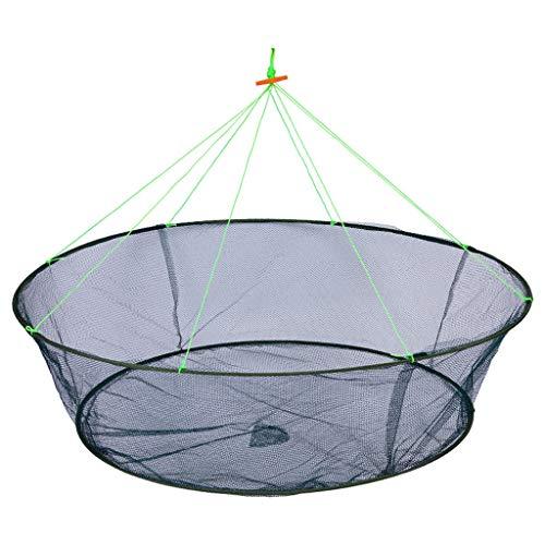 Winkey@ Neue offene Art Faltklapp Kite Fischsack Krabbenkäfig Fischereischutz Hebenetz Fischernetz bewegliches Netz Handwerfen Netz Fischereibedarf Kaliber einen Meter