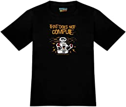 Does Not Compute B9 Robot Lost in Space Novelty T-Shirt - White - Men's Small