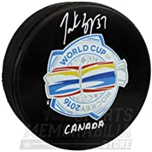 Patrice Bergeron Boston Bruins Signed Autographed World Cup Hockey Puck Canada