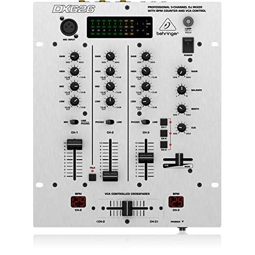 Behringer PRO MIXER DX626 Table de mixage 3 canaux PFL Crossfader