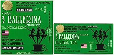 3 Ballerina Diet Tea Regular / Extra Strength for Men and Women's Weigh Control