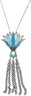 Alex and Ani Women's 32 in. Large Blue Lotus Necklace