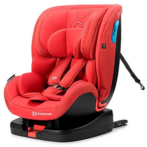 Kinderkraft Kinderautositz VADO, Autokindersitz, Autositz, Kindersitz mit Isofix, Top Tether Reclining, Einstellung der Kopfstütze, Gruppe 0+/1/2 0-25 kg, RWF 0-18 kg, INTERTEK und ECE R44/04, Rot