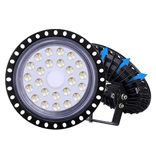 LED Industrielampe UFO, LTPAG 100W LED Hallenleuchte Industrial Hallenbeleuchtung Werkstattbeleuchtung, Abstrahlwinkel 120°, Deutsches optisches PC Objektiv [Energieklasse A++]