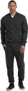 Men's Premium Sportswear Classic Full Zip Up All-Purpose Bomber Jacket and Sweatpants Set