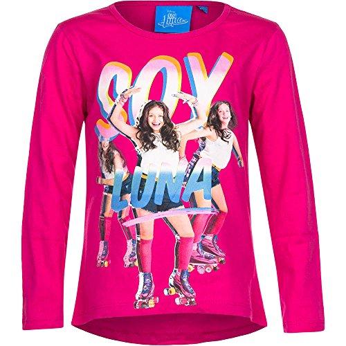 Disney Soy Luna Mädchen Langarmshirt (116, Pink)