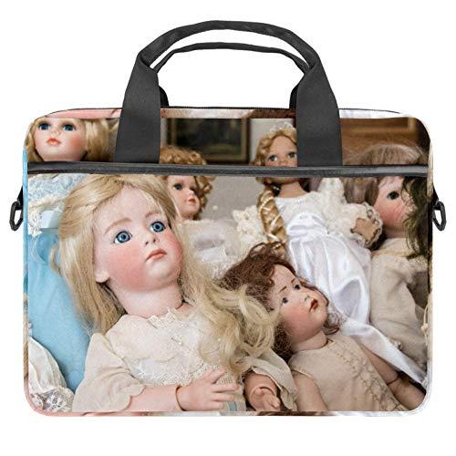Baby Dolls Laptop Case Canvas Pattern Briefcase Sleeve Laptop Shoulder Messenger Bag Case Sleeve for 13.4-14.5 inch Apple MacBook Laptop Briefcase
