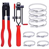 CV Joint Boot Clamp Pliers with CV Boot Clamps Kit, Auto Repair Tool for Car Tire Repair Clamp Removal, Car Band/Banding Tool Kit, Automotive Hose Axle Plier