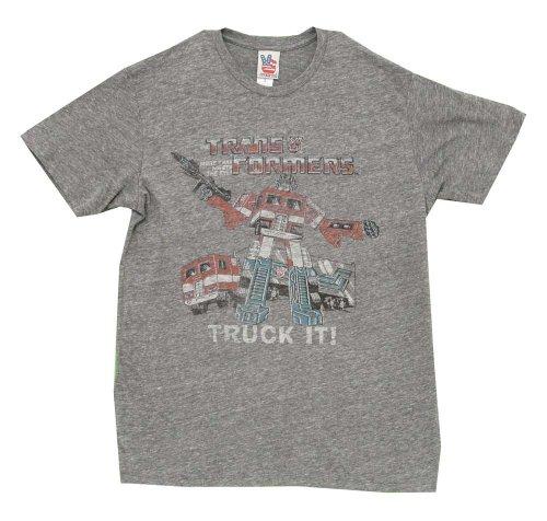 Junk Food la Transformers Camion Il TRIBLEND adulte Vintage T-shirt pour homme en acier gris - Gris - Small