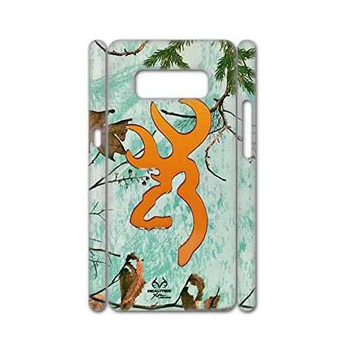 For Women Hard Pc Shell Flip Compatible To Samsung Galaxy Note 8 Print Browning 7 Choose Design 75-1