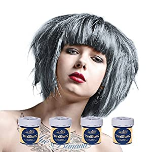 4 x La Riche Directions Semi-Perm Hair Colour Silver (ALL COLOURS Avail) 4x 88ml by LA RICHE