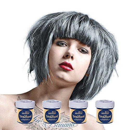 La Riche Directions semipermanente Haarfarbe Tönung 4er-Packung - Silber - für gebleichtes Haar