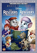 The Rescuers: 35th Anniversary Edition (The Rescuers / The Rescuers Down Under) (Thee-Disc Blu-ray/DVD Combo in DVD Packaging) by Walt Disney Video