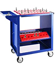 VEVOR CNC BT30 alet arabası, CNC alet taşıyıcı, 86,36 x 43,18 x 78,74 cm, çelik atölye arabası ve 2 saklama kabı, mavi alet dolabı, 45 kapasite, atölye için alet kutusu