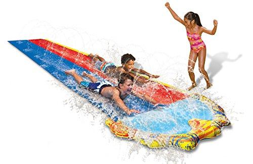 Speed Doppel Wasserbahn Duell Wasserrutsche 487 cm mit Sprinkler