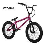 "Elite 20' & 18"" BMX Bicycle Destro Model Freestyle Bike - 4 Piece Cr-MO Handlebar (20' Neo Chrome)"