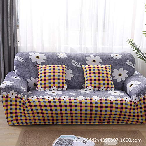 UTDFEOPSG Sofa Saver Protector 2 Seater,Floral Printing Stretch Elastic Sofa Cover, Resistant Sofa Covers For Living Room Fully-Wrapped Anti-Dust B 145-185CM(57-73inch)