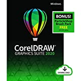 Corel Draw Graphics Suite 2020 | Graphic Design, Photo, and Vector Illustration Software | Amazon Exclusive includes Free ParticleShop Brush Pack [PC Download]
