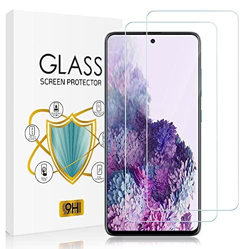 [2 Stück] Zinking Panzerglas Schutzfolie Kompatibel mit Samsung Galaxy S20 FE 5G, 9H Festigkeit Folie, Kratzen, Blasenfrei, HD Klar Panzerglasfolie, Bildschirmschutzfolie für Samsung S20 FE