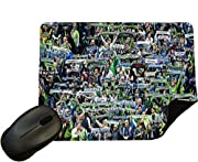 Mousemat with Black Rubber non-slip underside 22cm x 18cm x 4mm thick High Definition Design Mousepad, Vibrant Colours Excellent Football related gift for all soccer fans