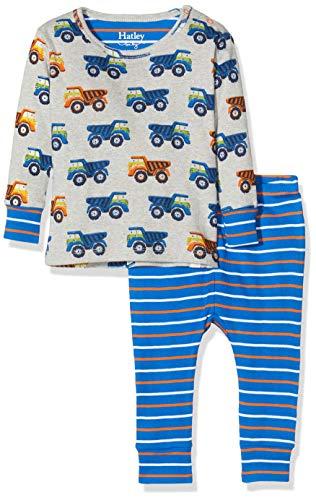 Hatley Organic Cotton Pyjama Sets Ensemble, Gris (Dump Trucks 020), 24 Mois Bébé Fille