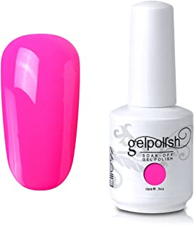 Elite99 Gel Nail Polish Soak Off UV LED Gel Lacquer Nail Art Manicure Bright Pink 558 15ml