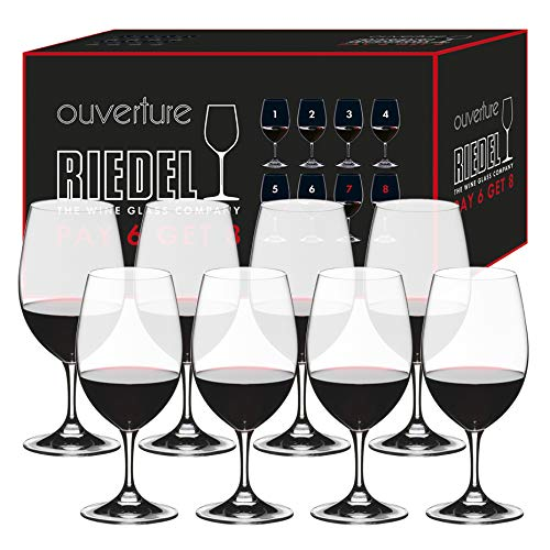 Riedel Ouverture Fine Crystal Magnum Glass Set, Buy 6 Get 8