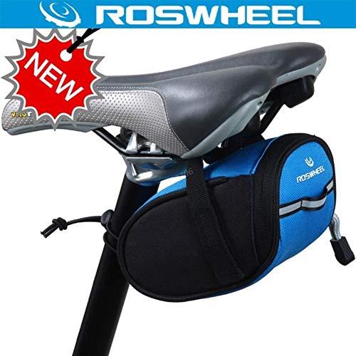 MKLS Rennrad Sattelstütze Tasche Radfahren Fahrradkorb Sattel zurück Tasche Bycicle Bicicleta Fahrrad Hintertaschen Sitztaschen, Blau, Andere