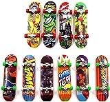 Sipobuy Mini Fingerboard, 6 Pack Skateboard Professionnel Finger pour Deck Érable Wood Ensemble de Bricolage Skate Boarding Jouets Jeux de Sport Cadeau pour Enfants