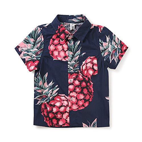 Phorecys Jungen-T-Shirt, für Strand, Urlaub, Hemd, kurze Ärmel, lässig, Baumwolle Gr. 3 Jahre, #0310 blau rot